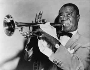 jazz trompeter spielt trompete